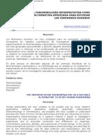 Castillo, E[1]. (2000) La fenomenología interpretativa como alternativa apropiada para estudiar l[1]