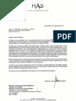 """La réponse de la HAS concernant les recommandations """"IDE seul devant une détresse médicale"""""""