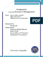 Assignment Resume