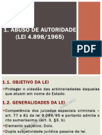 Abuso de Autoridade - Slides