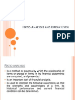 Break Even Analysis and Ratio Analysis