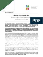 CdP-Projet de Loi de Finances 2013