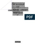 Catalogue of the Adyar Library Part 1