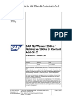 SAP BW 7.0 Bussines Content