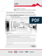 Receive up to a 15% Rebate on Eligible Bosch Kitchen Packages