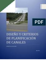 CRITERIOS Y DISEÑO DE PLANIFICACION