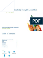 Consulting Thought Leadership Report FY11Q3