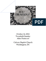 Bulletin for Sunday, October 14, 2012