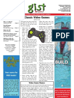 Gist Weekly Issue 8 - Classic Video Games