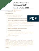 PLANIFICACION PROCEDIMIENTOS TECNICOS