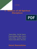 Essence of All Spiritual Disciplines - Swami Ramsukdas ji