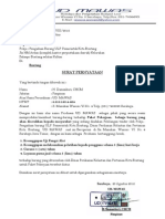 Surat Pernyataan Mawas SP