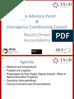 Advisory Panel Role in RDA - Oct. 5, 2012