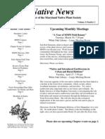 March - April 2004 Native News ~ Maryland Native Plant Society