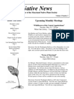 May - June 2004 Native News ~ Maryland Native Plant Society