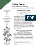 May - June 2005 Native News ~ Maryland Native Plant Society