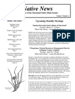 March - April 2007 Native News ~ Maryland Native Plant Society