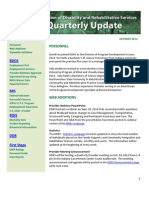 Quarterly Report - Oct 2012