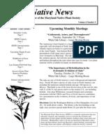 September - October 2007 Native News ~ Maryland Native Plant Society