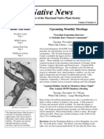 November - December 2008 Native News ~ Maryland Native Plant Society