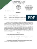 Amendment 64 Review and Comment Memo