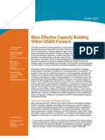 InterAction - Effective Capacity Building in USAID Forward - Oct 2012