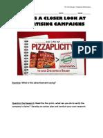 DiGiorno Law of Pizzaplicity Handout