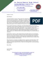 October 12 2012 Octorara High School Bomb Threat Letter