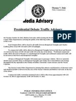 2012 Hofstra Presidential Debate Traffic Advisory