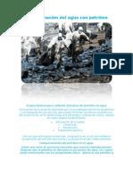 Contaminación del agua con petróleoAngie