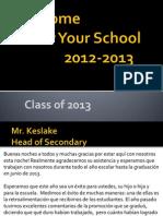 Grade 12 Know Your School 2012-2013