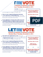 ACLU Know Your Voting Rights Card