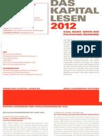 Folder Das Kapital Lesen 2012