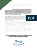 Comunicado CoNES sobre conflicto Mapuche