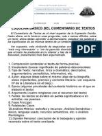 ESQUEMA COMENTARIO TEXTOS