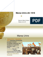 Marea Unire Din 1918 power point