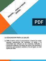 Educacion Para La Salud Dental