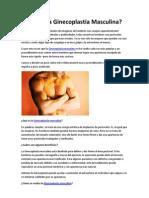 Qué Es La Ginecoplastia Masculina