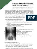 Pemeriksaan Intravenous Urogrphy Dan Urethrocistoraphy