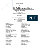 Scofield Bldg. Addition Project Manual (503-6925), 2011-09-0