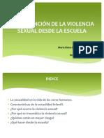 Prevención de la violencia sexual en la escuela