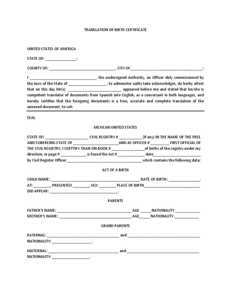Spanish to english birth certificate translation template gallery spanish to english birth certificate translation template gallery spanish to english birth certificate translation template choice aiddatafo Choice Image