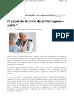 O papel do técnico de enfermagem com idosos