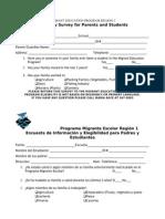 Eligibility Survey for Parents & Students