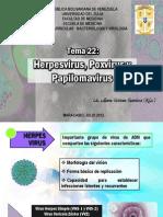 TEMA 22 Herpesvirus Poxvirus y Papilomavirus