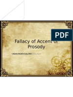 Fallacy of Accent or Prosody