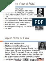 The Filipino View of Rizal