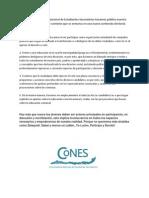 Comunicado CoNES Municipales 2012