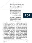 On the Teaching of Ancient and Medieval Political Theory