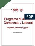 Programa Di Akshon Democraat Laboral 19 Sept